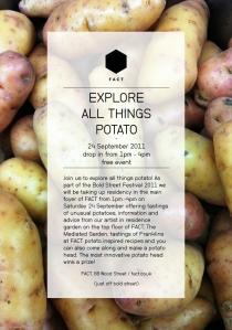 Flyer for Potato Day at FACT